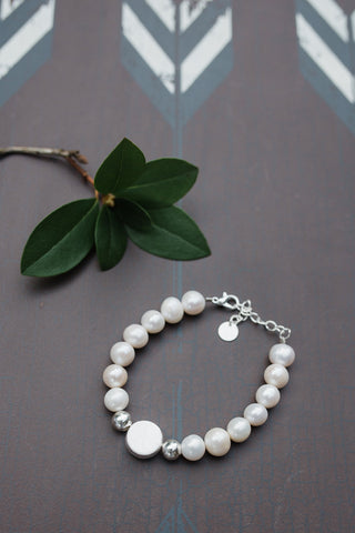 Sterling Silver Pearl Bracelet for Women - WAR Chest Boutique