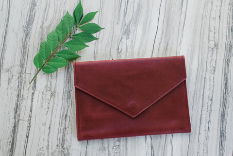 Burgundy Tigist Clutch for Women - Handbags - WAR Chest Boutique