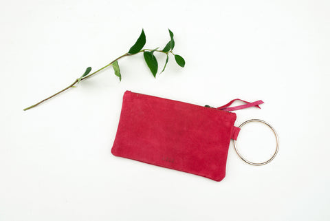 Deep Raspberry Fozi Wristlet for Women - Handbags - WAR Chest Boutique