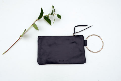 Black Fozi Wristlet for Women - Handbags - WAR Chest Boutique