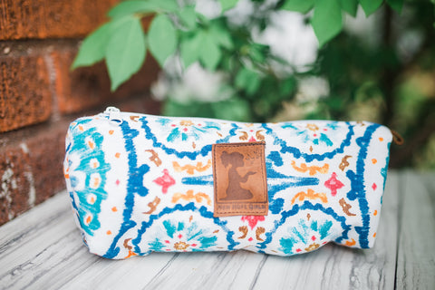 Blue Boho Travel Pouch for Women and Children - Accessories - WAR Chest Boutique