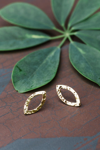 Brass Addison Studs for Women - Jewelry - WAR Chest Boutique