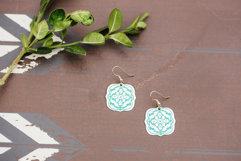 Teal Arabesque Earring for Women - Jewelry - WAR Chest Boutique