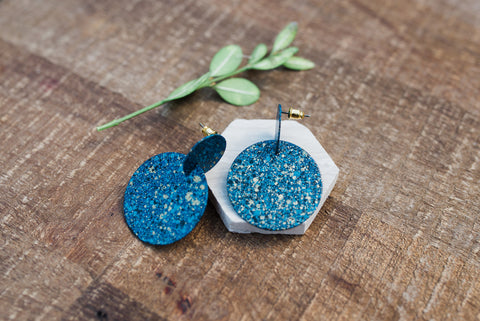 Interstellar Blue Studs for Women - Jewelry - WAR Chest Boutique
