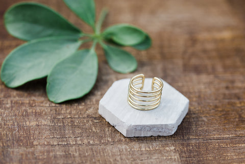 Gold Coil Ring for Women - Jewelry - WAR Chest Boutique