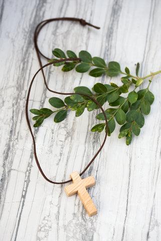 Oak Cross Necklace for Men and Women - Jewelry - WAR Chest Boutique