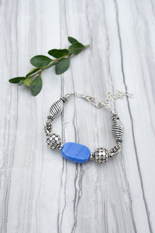 Blue Jayanthi Bracelet for Women - Jewelry - WAR Chest Boutique