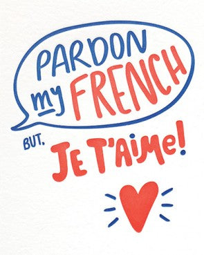 Pardon My French Card - Stationary - WAR Chest Boutique