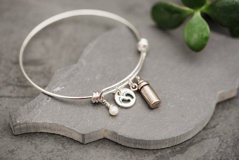 Pray For WAR Babies Silver Bangle - Jewelry - WAR Chest Boutique
