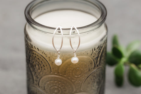 Crescent Pearl Earrings for Women - Jewelry - WAR Chest Boutique