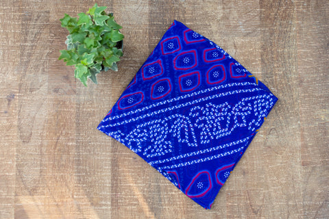 Cobalt Design Kerchief - Accessories - WAR Chest Boutique