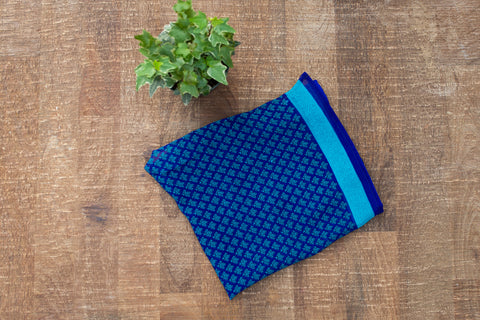Indigo Design Kerchief - Accessories - WAR Chest Boutique