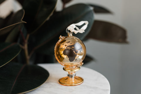 Amber WAR Globe Ornament - Ornaments - WAR Chest Boutique