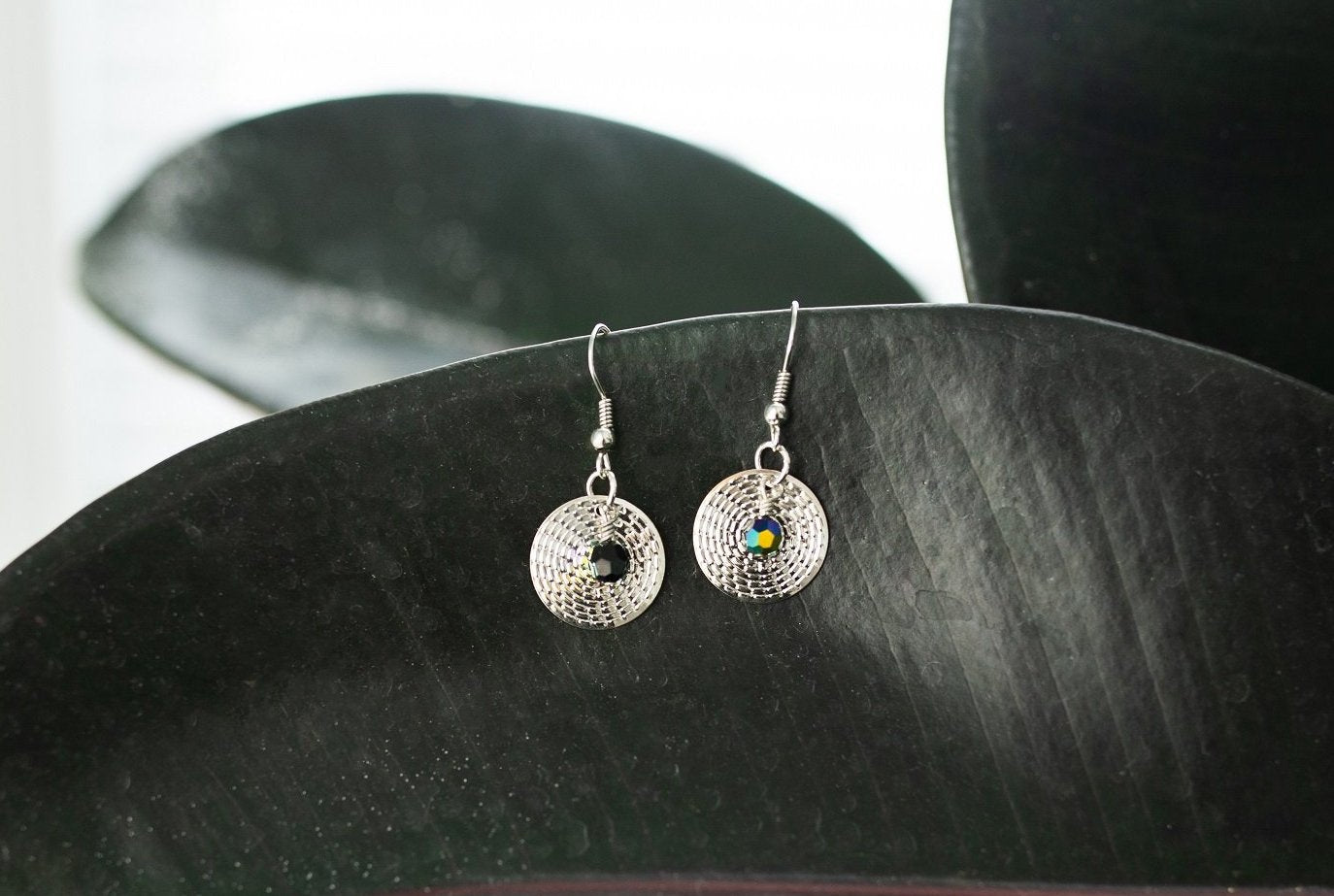 6674a7e29 Silver Drop and Swarovski Earring - Jewelry - WAR Chest Boutique