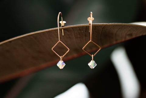 Petite Swarovski Copper Earring for Women - Jewelry - WAR Chest Boutique