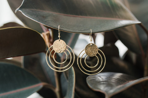 Splendid Sun Gold Earrings for Women - Jewelry - WAR Chest Boutique