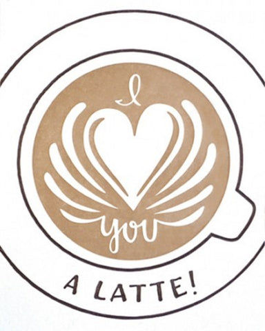 Latte Love Card - Office & Stationary - WAR Chest Boutique