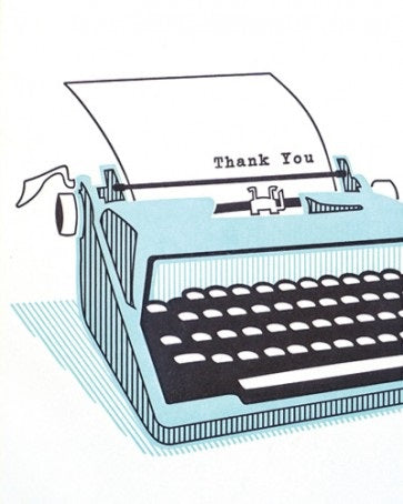 Typewriter Thank You Card - Office & Stationary - WAR Chest Boutique