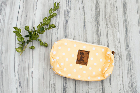 Yellow Dot Pouch for Women - Purses & Bags - WAR Chest Boutique