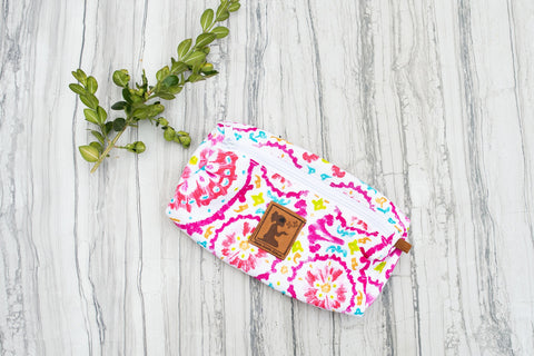 Pink Boho Pouch for Women - Purses & Bags - WAR Chest Boutique