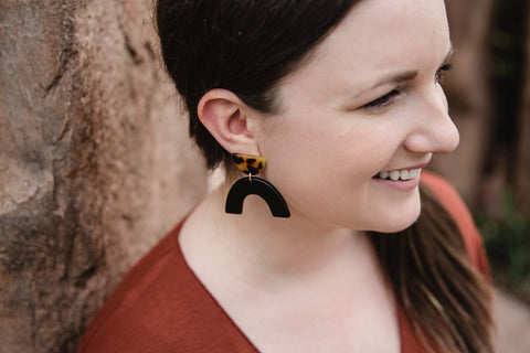 Tortoise Structure Earring for Women - Jewelry - WAR Chest Boutique