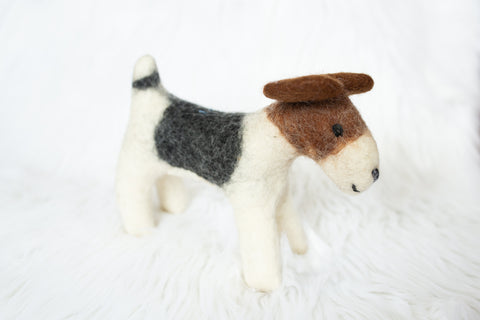 Small Felt Dog for Children - Stuffed Animals - WAR Chest Boutique
