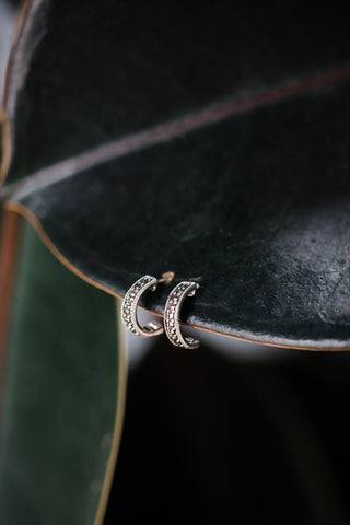 Marcasite Petite Hoop Earrings