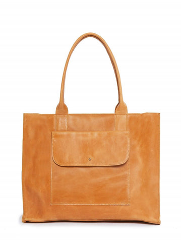 Cognac Mare Pocket Tote Bag - Purses & Bags - WAR Chest Boutique