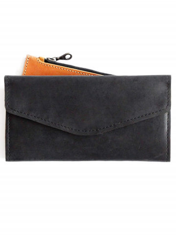 Black and Cognac Hailu Wallet for Women - Purses & Bags - WAR Chest Boutique