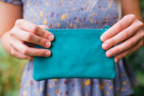 Teal Martha Coin Pouch