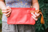 Red/Whiskey Rachel Wristlet