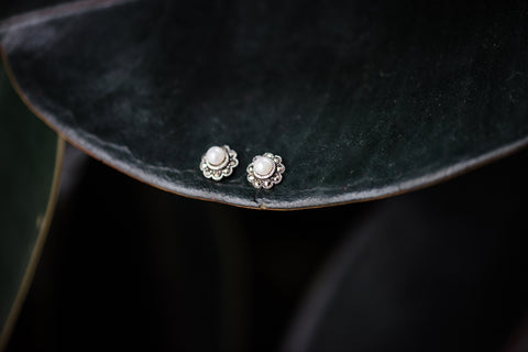 Flower Pearl Marcasite Earrings for Women - Jewelry - WAR Chest Boutique