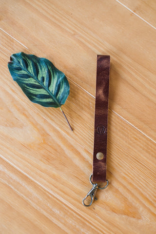 Brown Wristlet Lanyard