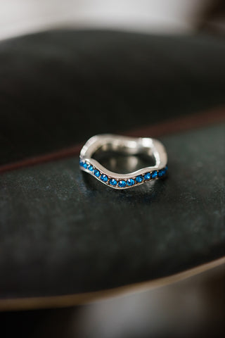 Blue Wave Ring for Women - Jewelry - WAR Chest Boutique