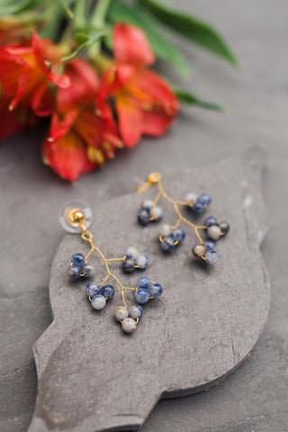Blueberry Vine Earring