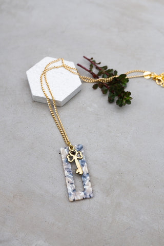 Geometric Key Necklace for Women - Jewelry - WAR Chest Boutique