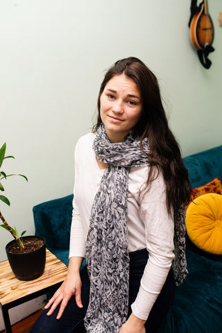Animal and Leaf Scarf