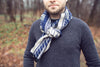 Blue & Grey Men's Scarf