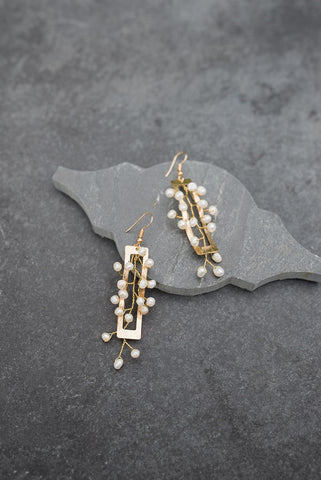 Pearl Trellis Earrings