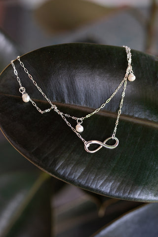 Infinity Pearl Anklet