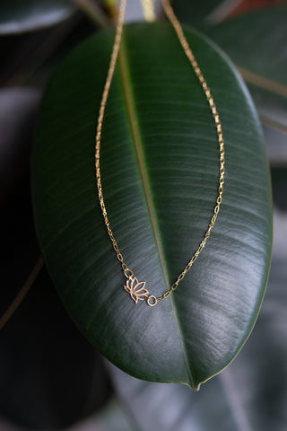 Petite Lotus Necklace