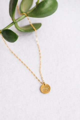 Brass Joy Necklace