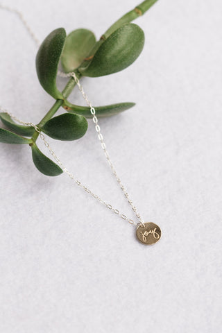 Silver Joy Necklace