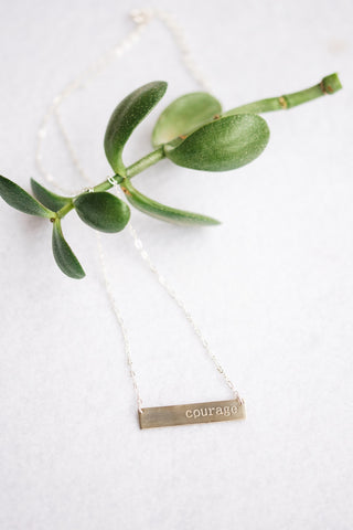 Silver Courage Necklace