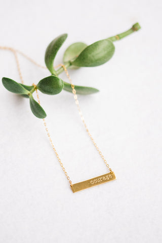 Gold Courage Necklace