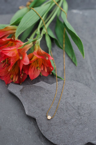 Gold Petite Circle Necklace
