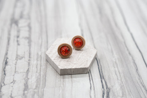 Crimson Meadow Earrings
