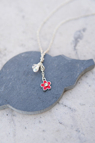 Kids Flower Charm Necklace