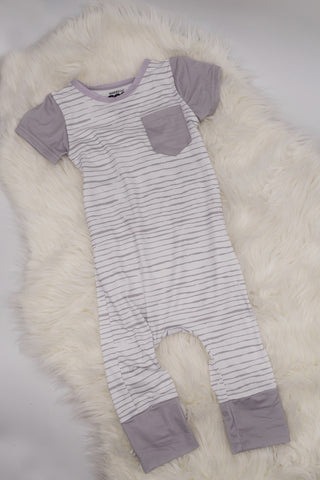 Soft Stripe Romper 12-18M