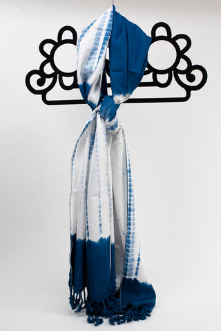 Hand Dyed Pashmina Scarf Blue